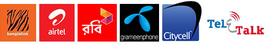 we support Banglalink, Robi, Airtel and Grameenphone